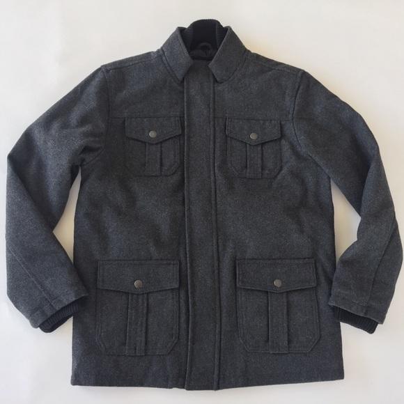 5e4771b2b394 Gap Kids Coat Boys XXL 13 Wool Blend Winter